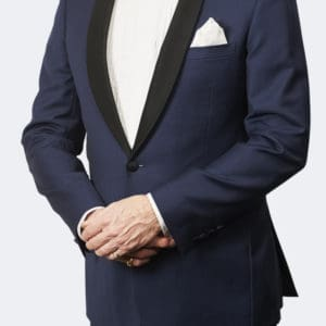 Trevor West Bond Tuxedo / Dinner Suit in Blue