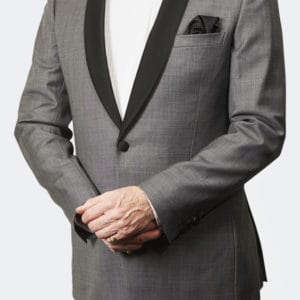 Trevor West Bond Tuxedo / Dinner Suit in Grey